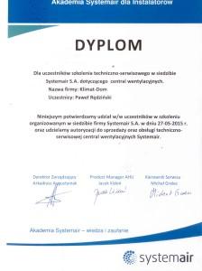 certyfikat systemair
